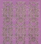 Zier-Sticker-Bogen-Spiegelfolie-breite Ränder/Bordüren-pink/gold-2155-pig