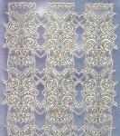 Zier-Sticker-Bogen-Spiegelfolie-breite Ränder/Bordüren-silber/gold-2155-sg