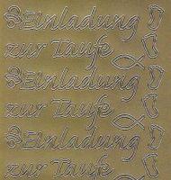 Zier-Sticker-Bogen-Einladung zur Taufe-gold-2227g