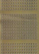 Zier-Sticker-Bogen-Buchstaben-nur J, K und L -gold-2240g