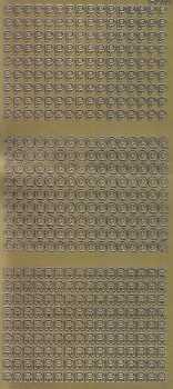 Zier-Sticker-Bogen-2242g-Buchstaben-nur P, Q und R -gold