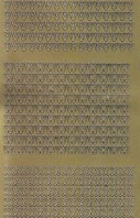 Zier-Sticker-Bogen-Buchstaben-nur V, W und X -gold-2244g