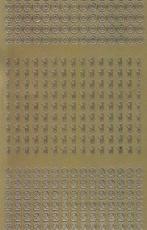 Zier-Sticker-Bogen-Zahlen-nur 0, 1 und 2 -gold-2258g
