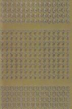 Zier-Sticker-Bogen-Zahlen-nur 6, 7 und 8 -gold-2260g