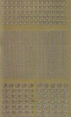 Zier-Sticker-Bogen-Zahlen-nur 9, - und Jubiläum -gold-2261g