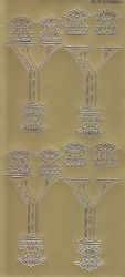 Zier-Sticker-Bogen-Buchstaben-Monogram Y -Ornamente-gold-2261Mg