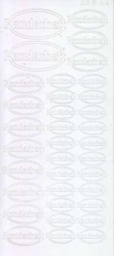 Zier-Sticker-Bogen-Handarbeit-Label-weiß-2266w