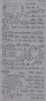Zier-Sticker-Bogen-Hochzeitstage-z.B.Rosen-Perlen-Rubinhochzeit-silber-2267s