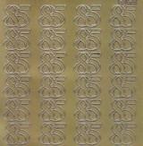 Zier-Sticker-Bogen-Jubiläumszahlen 85 -gold-2276g