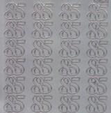 Zier-Sticker-Bogen-Jubiläumszahlen 85 -silber-2276s
