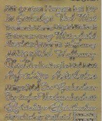 Zier-Sticker-Bogen-verschiedene Schriftzüge-Trauer-Beileid 2304g