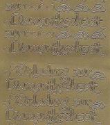 Zier-Sticker-Bogen-2395g-Einladung zur Diamanthochzeit-gold