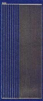 Micro-Glittersticker-glatte Ränder-blau / gold-2400gblg