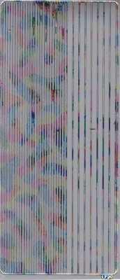 Zier-Sticker-Bogen-glatte Ränder-silber/multi-2400sm