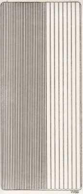 Zier-Sticker-Bogen-glatte Ränder-weiß-gold-2400wg