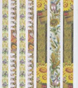 Stoffbordüren 24028 -gelb-grün-Sonnenblumen-selbstklebend