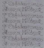Zier-Sticker-Bogen-2412s-Einladung zur silbernen Hochzeit-silber