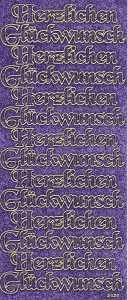 Micro-Glittersticker-Herzlichen Glückwunsch-lila-gold-2429glig
