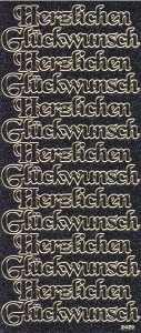 Micro-Glittersticker-Herzlichen Glückwunsch-schwarz-gold-2429gschwg