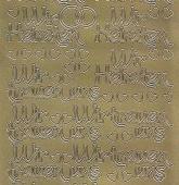 Zier-Sticker-Bogen-2436g-Wir Heiraten/Wir trauen uns -gold