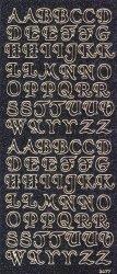 Micro-Glittersticker-ABC-Buchstaben-schwarz/gold-2477gschwg