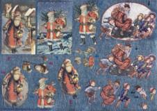Dufex-3D-Bogen-Weihnachtsmänner nostalgisch-gravierte Motive-Alu-beschichtetes Papier-248558