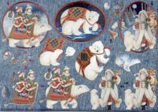 Dufex-3D-Bogen-Weihnachten am Nordpol-gravierte Motive-Alu-beschichtetes Papier-248559
