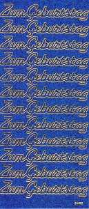 Micro-Glittersticker-Zum Geburtstag-blau / gold-2485gblg