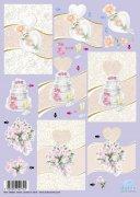 Dufex-3D-Stanzbogen-759948-Hochzeit-gravierte Motive-Alu-beschichtetes Papier