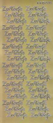 Zier-Sticker-Bogen-Zur Taufe -gold-2549g