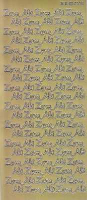 Zier-Sticker-Bogen-Zum Abi -gold-2550g