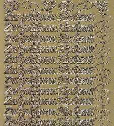 Zier-Sticker-Bogen-Zur goldenen Hochzeit-gold-2553g