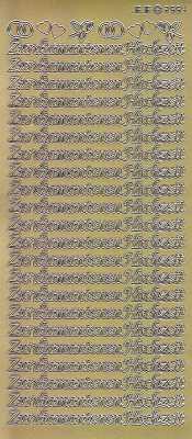 Zier Sticker Bogen Zur Diamantenen Hochzeit Gold 2554g
