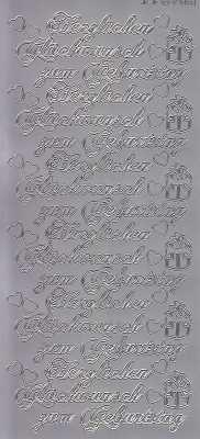 Zier-Sticker-Bogen-Herzlichen Glückwunsch zum Geburtstag-silber-2560s