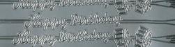 Zier-Sticker-Bogen-0257s-Happy Birthday-längs