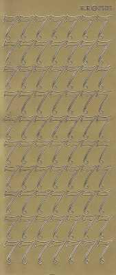 Zier-Sticker-Bogen-große Zahlen- nur 7 -gold-2583g