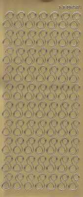 Zier-Sticker-Bogen-große Zahlen- nur 8 -gold-2584g