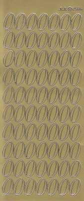 Zier-Sticker-Bogen-große Zahlen- nur 0 -gold-2586g