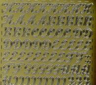 Zier-Sticker-Bogen-Alphabet-ABC-Schreibschrift-gold -0265g