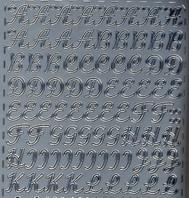 Zier-Sticker-Bogen-Alphabet-ABC-Schreibschrift-silber -0265s