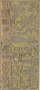 Zier-Sticker-Bogen-Grillparty-gold-2800g