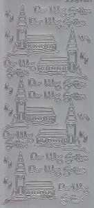 Zier-Sticker-Bogen-Kirche-Der Weg Gottes-silber-2803s