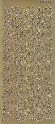 Zier-Sticker-Bogen-2811g-Tauben / Turteltauben -gold