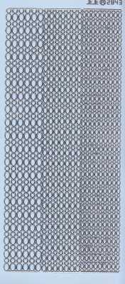 Zier-Sticker-Bogen- Ränder / Bordüren / verschiedene Breiten-hellblau-silber-2843hbls