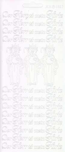 Zier-Sticker-Bogen-Kommunion-Konfirmation-Taufe-Der Herr ist mein Hirte-weiß-2967w