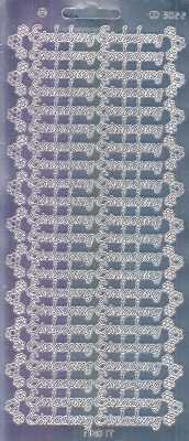 Zier-Sticker-Bogen-3022spfs-Spiegelfolie-Einladung-silber