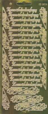 Zier-Sticker-Bogen-Spiegelfolie-Zum Schulanfang-gold-3031spfg