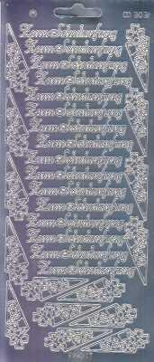 Zier-Sticker-Bogen-Spiegelfolie-Zum Schulanfang-silber-3031spfs