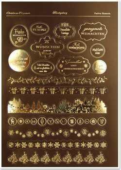 reddy deluxe stanzbogen 303559 schildchen und bord ren braun goldlaminiert. Black Bedroom Furniture Sets. Home Design Ideas