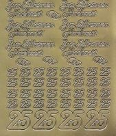 Zier-Sticker-Bogen-Zur silbernen Hochzeit-3051g